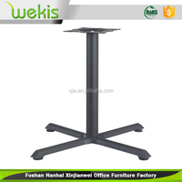 2016 simple modern style wrought iron black cast iron table base for computer desk