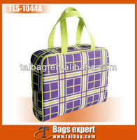 Printed 600D pvc make up case with handle