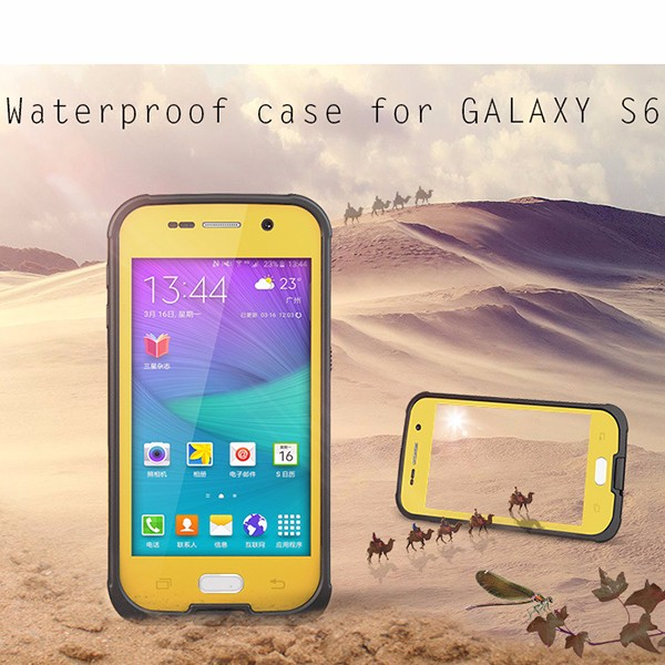 For Samsung Galaxy S6 Waterproof Case Mobile Phone With Button