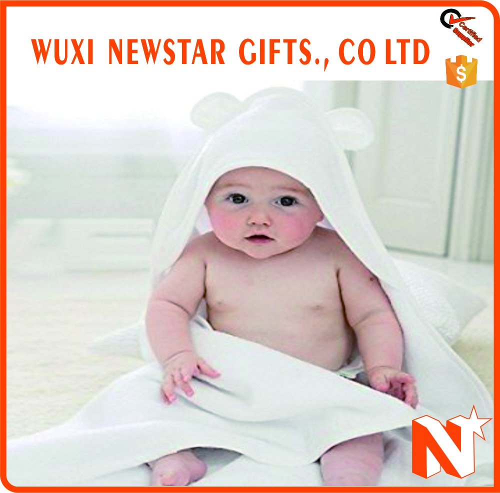 Promotional High Quality Customized Bamboo Baby Hooded Towel