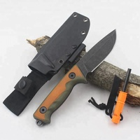 High quality Fixed Blade Outdoor Hunting Knife for Camping Survival Fishing Tactical with fire starter_Free Shipping