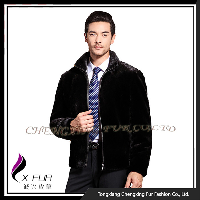 CX-G-A-243 Excellent Real Man Outdoor Mink Fur Jacket