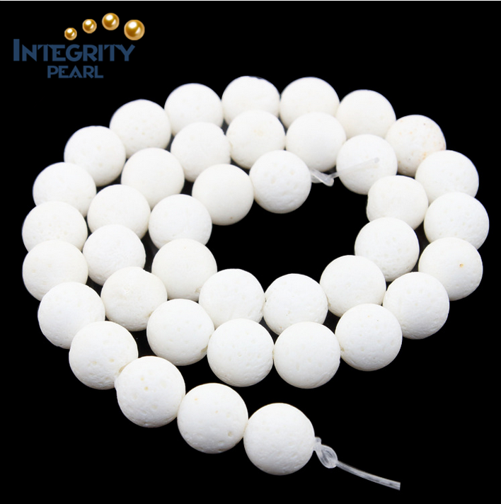 Wholesale gemstone loose coral beads size 6mm 8mm 10mm white coral beads