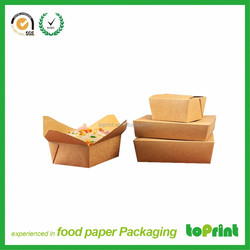 Eco friendly kraft paper box food packaging containers