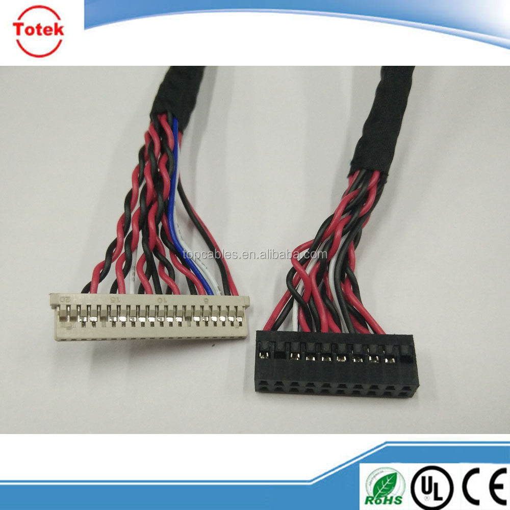 2 row 20 position Hirose A3B-20D-2C to DF14 LVDS cable assembly