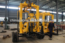 Full hydraulic trailer mounted portable water well drilling rig