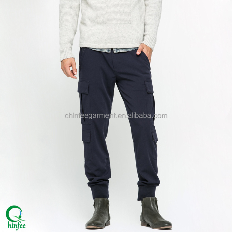 Custom Mens Cargo Pants With Many Pockets