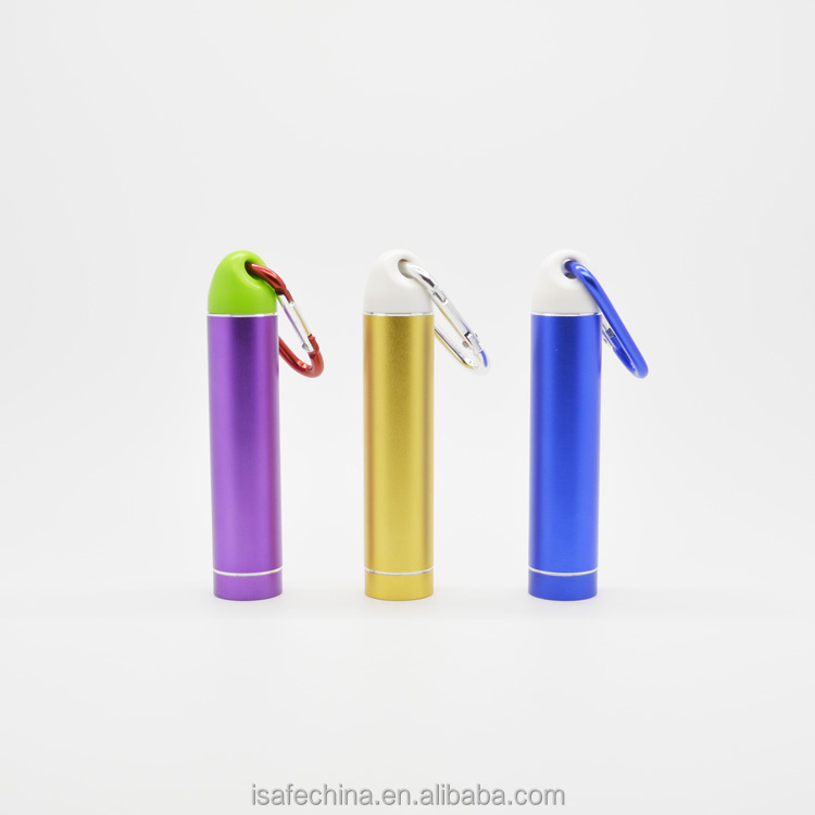 Promotional power bank portable phone charger 2600mah with keyring