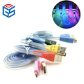 Smile face usb led lighter shape design cable sync data charger cables for samsung for IOS for android