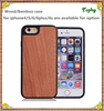 Luxury mobile phone case for iphone 6 back cover wooden +TPU hybrid case