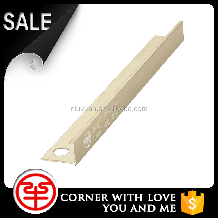 2015 Aluminium Alloy Trimming L Shape Aluminium Tile Trim Inside Corner Tile Trim