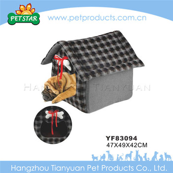 Bone Decoration Soft Fabric Indoor Dog House