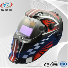 Full face led auto darkening skull solar power japan electronic welding helmet manufacture