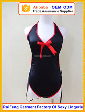 Import china underwear nylon swimming black tight lingerie bikini