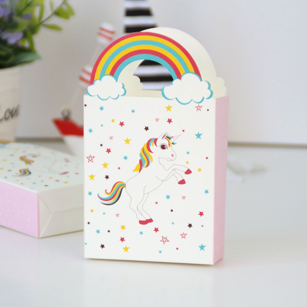 Unicorn pattern baby shower favors candy wedding favor box