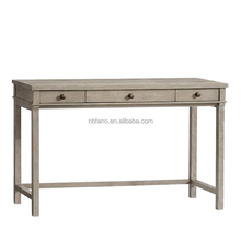FN-6873 Solid wood furniture custom wooden table with wicker drawers