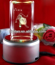 beauty antique glass animal figurine 3d laser engraving zoo animal figurines 3d laser engraving crystal figurines