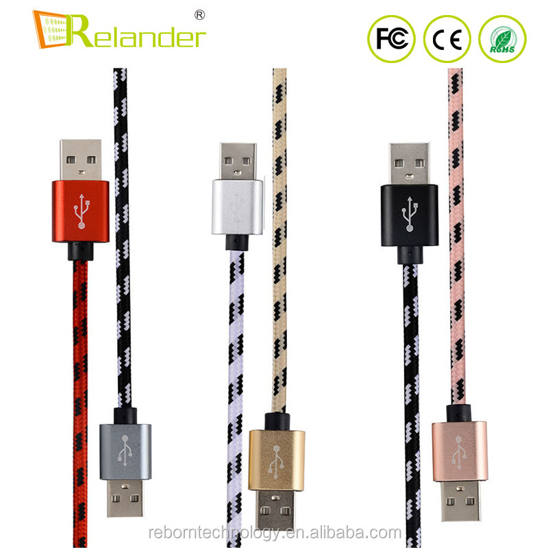 Cheapest Colorful 1M Nylon Braided <strong>USB</strong> Type C Data Chariging Cable For Samsung Xiaomi Mobile Phones