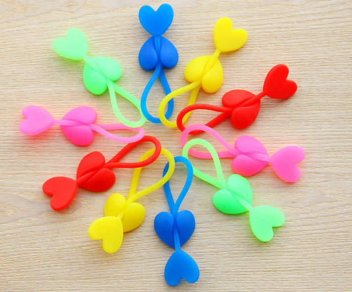 Hot selling Heart Shaped Silicone Sealing Clip