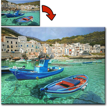 Custom Realistic Canvas Wall Art Landscape Oil Painting Picture to Paint