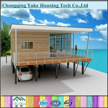 hot sale durable prefab beach house for sale
