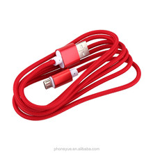 Free Sample Standard 1.5M/5FT Colorful Braided Micro USB Cable with Packing