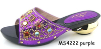 Guangzhou wholesale italian ladies shoes leather crystal shoes set name brand shoes for party MS4222 purple