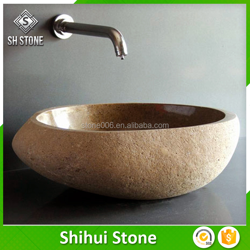 SHS river stone wash basin with good after-sale service