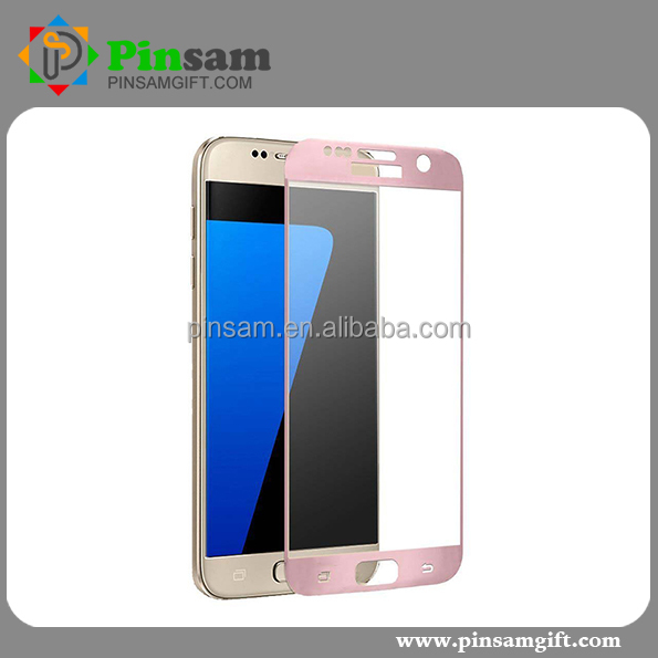 Wholesale Mirror effect screen protector with design Ultra Thin tempered glass screen protector for samsung galaxy s7