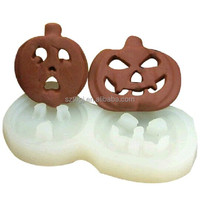 DIY 3D lovely pumpkin shaped silicone fondant mold sugar cake decoration for Halloween