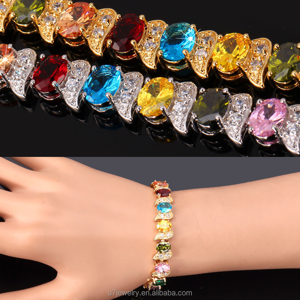AAA+ cubic zirconia bracelet gold plated accessories for women wholesale