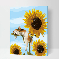 Bona Sunflower And Cat Design Painting By numbers