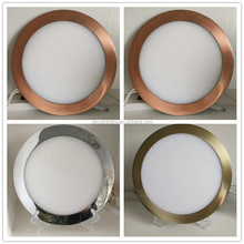 plating process sliver copper nobelium color frame ultra thin led panel light 3W-24W