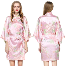 FUNG 3016 New Arrived Colorful Factory Wholesales Satin Robes