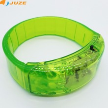 New Sound Activated led bracelet 5 colors light up wristband plastic bracelet birthday party supplies