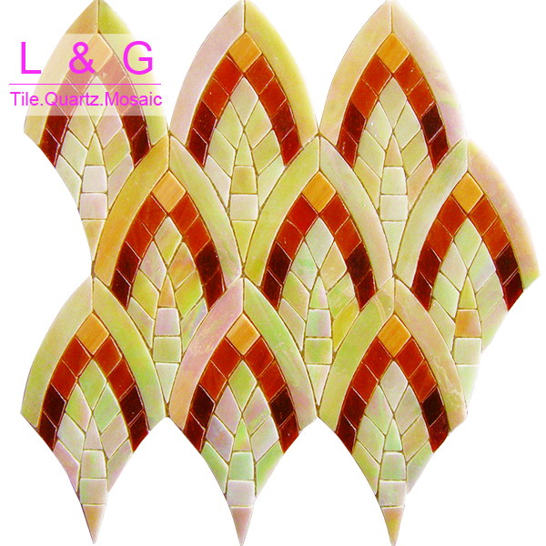 Phoenix tail color panel glass mosaic ME0177