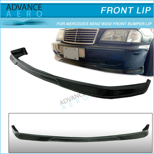 EURO STYLE PU FRONT BUMPER LIP FOR 1994 1995 1996 1997 1998 1999 2000 MERCEDES BENZ W202 C-CLASS