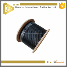 Manufacturer Black PVC Coated Galvanized Steel Wire Rope