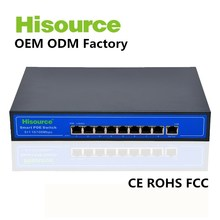 OEM ODM accepted 8 port 48v fast ethernet poe switch