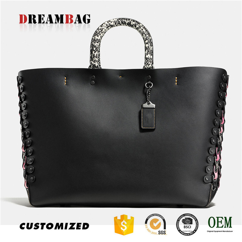 Guangzhou OEM chrome tanning genuine hand bags shoulder