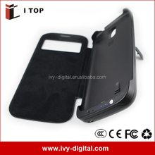 Chargers cases for Samsung Galaxy S4 i9500 with flip cover (Auto Stand-by and Sleep Function)