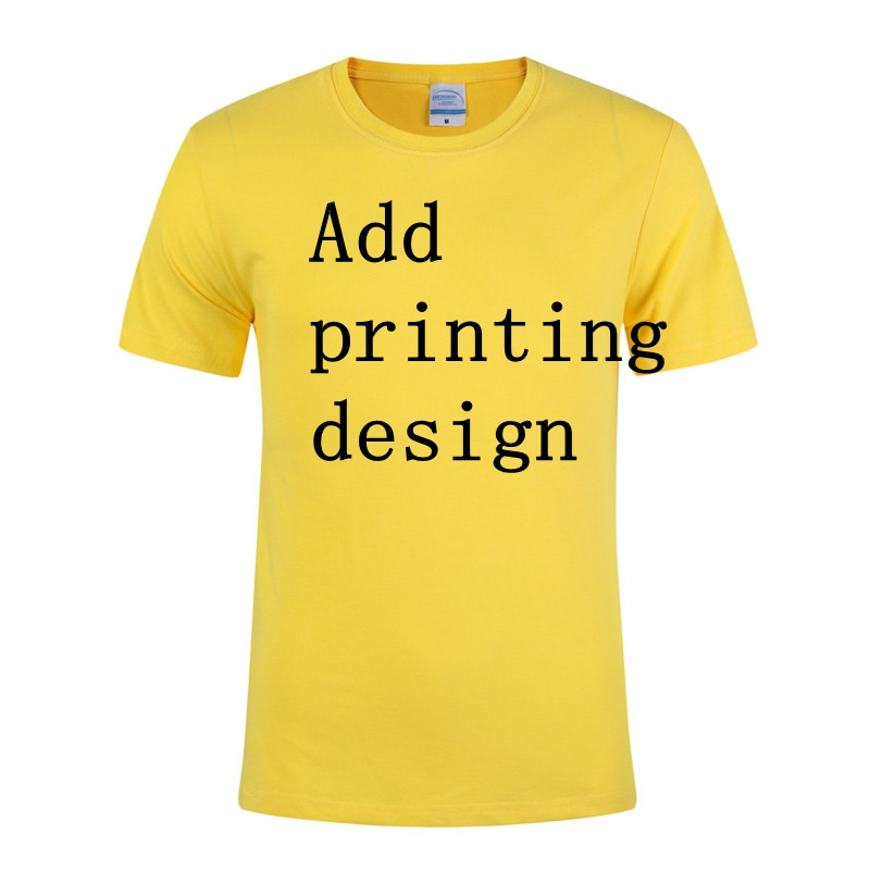 1pcs order accept Wholesale cheap custom promotional printing cotton t shirt for men