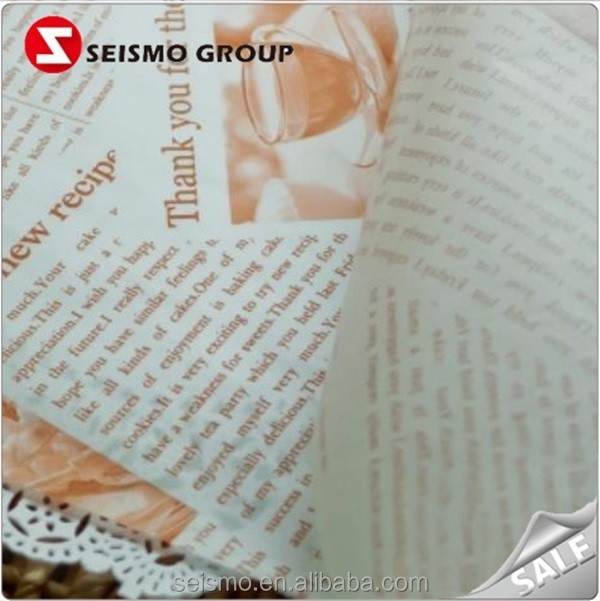 Oil Proof Food Standard Newspaper Sandwish Wrapping Paper