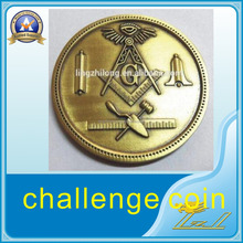 Custom metal coin die stamp plating gold coin masonic challenge coin