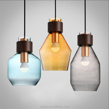 Dcloud 2017 Retro Simple Individual Glass Pendant Light LED Ceiling Lamp Light Bottle for Restaurant Coffee Bar Dining room