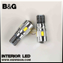 5630 6SMD Auto Wedge 194 LED Blub Canbus Error Free W5W T10 LED Car Lights PCB LENS Bulbs White