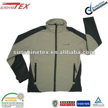 high end outdoor clothing with soft shell fabric
