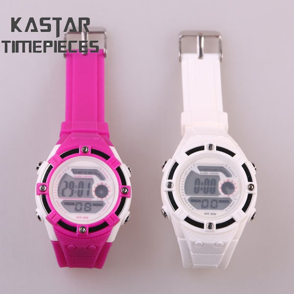 water resistant plastic digital watch cheap