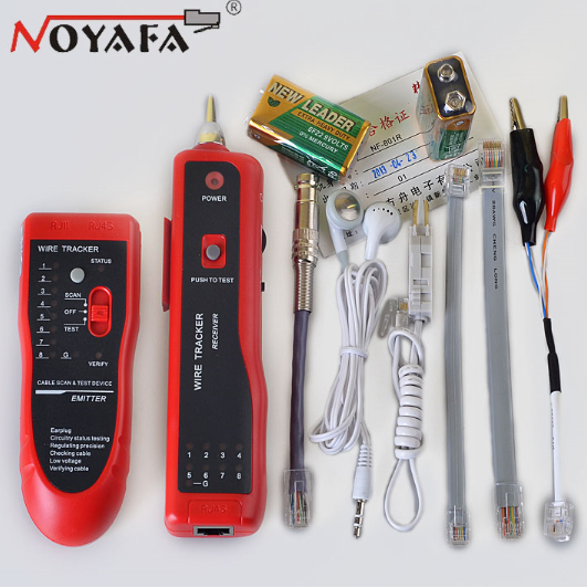Cable Tester Tracker Phone Line BNC Network Finder RJ11 RJ45 Wire Tracer NF-801R