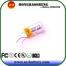 High quality rechargeable battery 3.7v 85mah lithium polymer battery 501220 for bluetooth headset battery